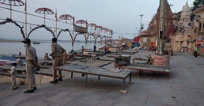 Locked Ganga Dussehra in Kashi