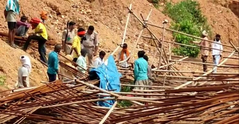 One killed two injured as shuttering falls