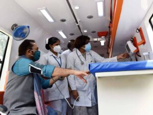 Mobile clinic flagged off by Naqvi