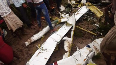 Aircraft crashes in Azamgarh