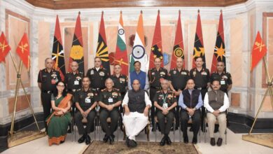 DEFENCE MINISTER ADDRESSES THE SENIOR LEADERSHIP OF INDIAN ARMY