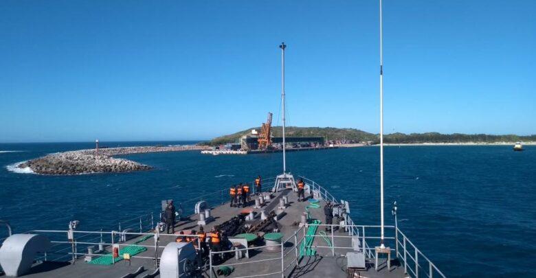 Mission Sagar IV INS Jalashwa Arrives at Port Ehoala (Madagascar)