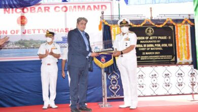 Inauguration of Extension of Naval Jetty Phase-II at Naval Wharf