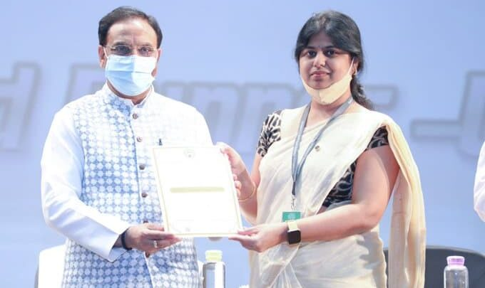 Union Education Minister presents AICTE Lilavati Awards 2020