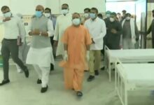 Rajnath Singh inspects Covid Hospitals in Lucknow